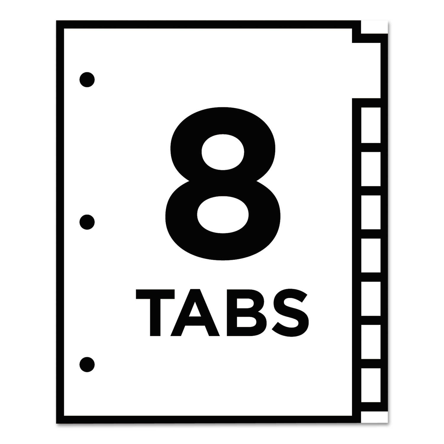 Insertable Big Tab Dividers By Avery Ave11124 Ontimesupplies