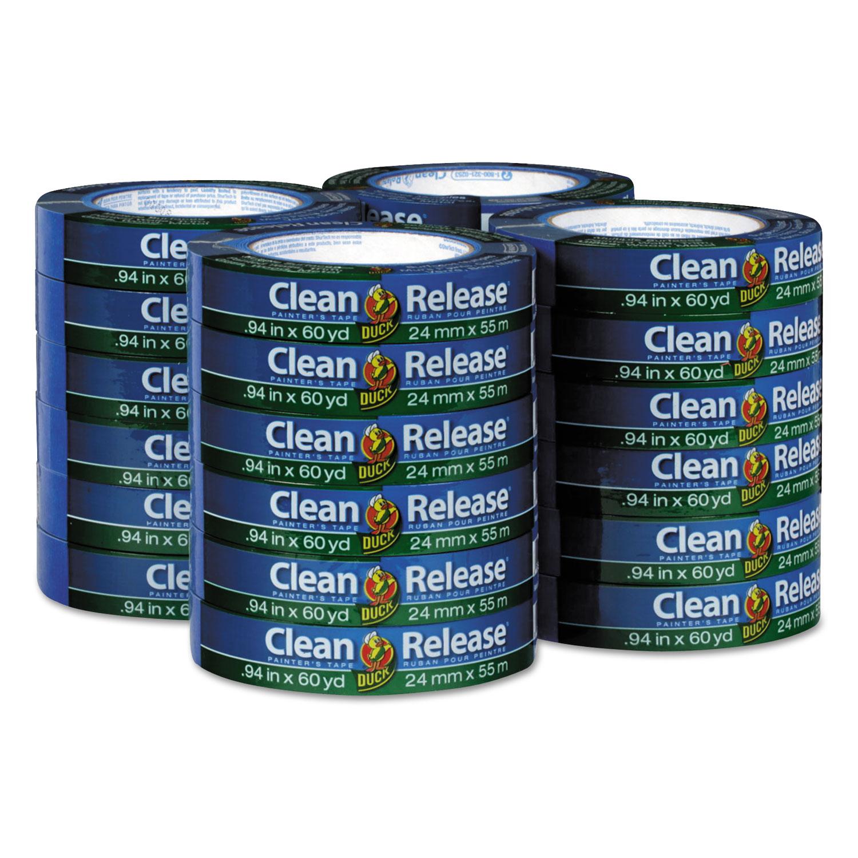 """Clean Release Painter's Tape, 3"""" Core, 0.94"""" x 60 yds, Blue, 24/Carton"""