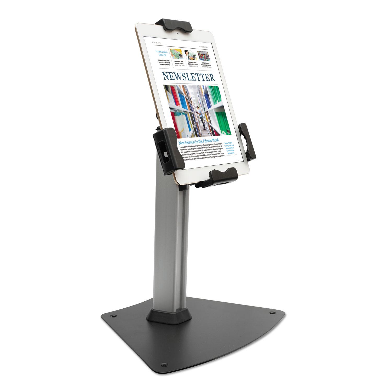 """Tablet Kiosk Desktop Stand for 7"""" to 10"""" Tablets, Silver"""