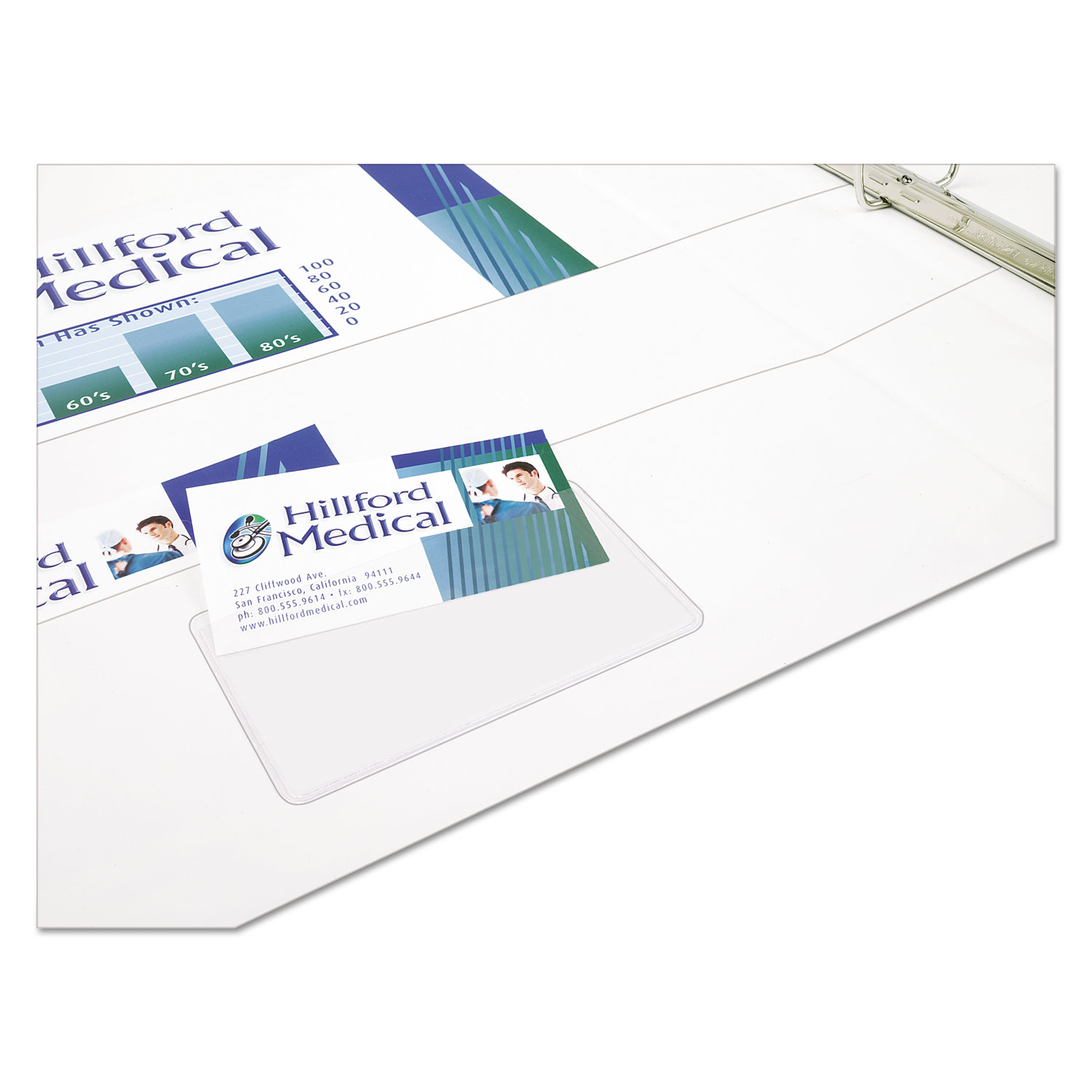 Self adhesive business card holders by avery ave73720 self adhesive business card holders top load 3 12 x 2 clear 10pack reheart Choice Image