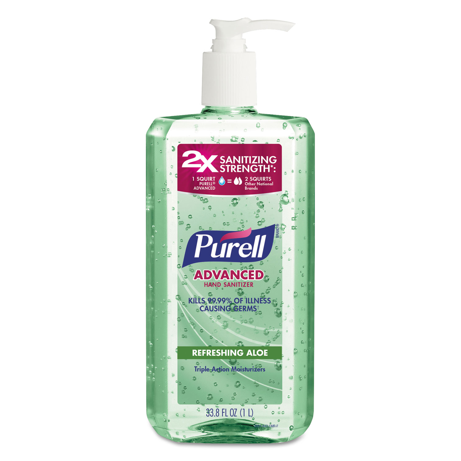 Advanced Instant Hand Sanitizer with Aloe, 4/Carton