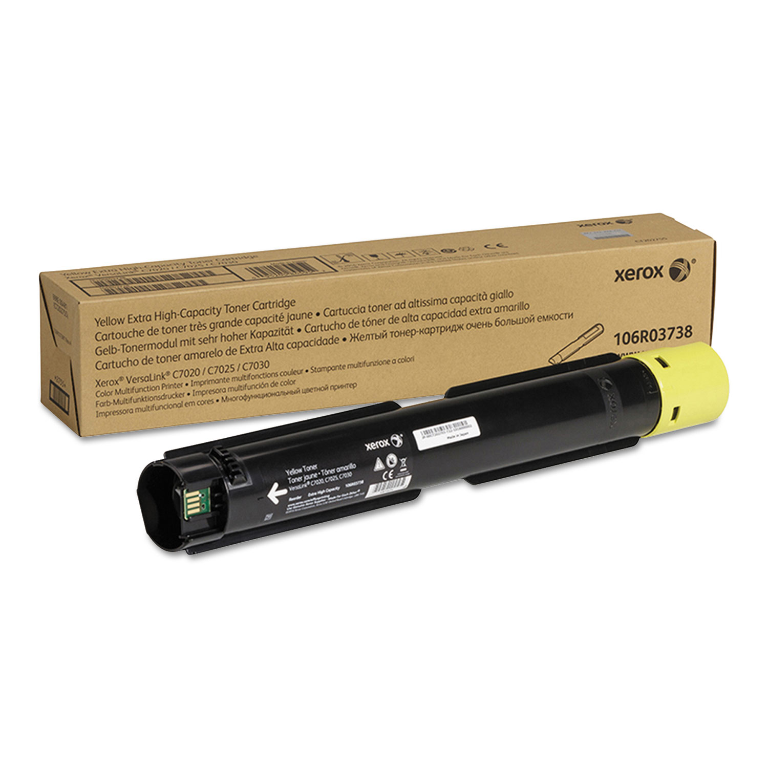 106R03738 Extra High-Yield Toner, 16500 Page-Yield, Yellow