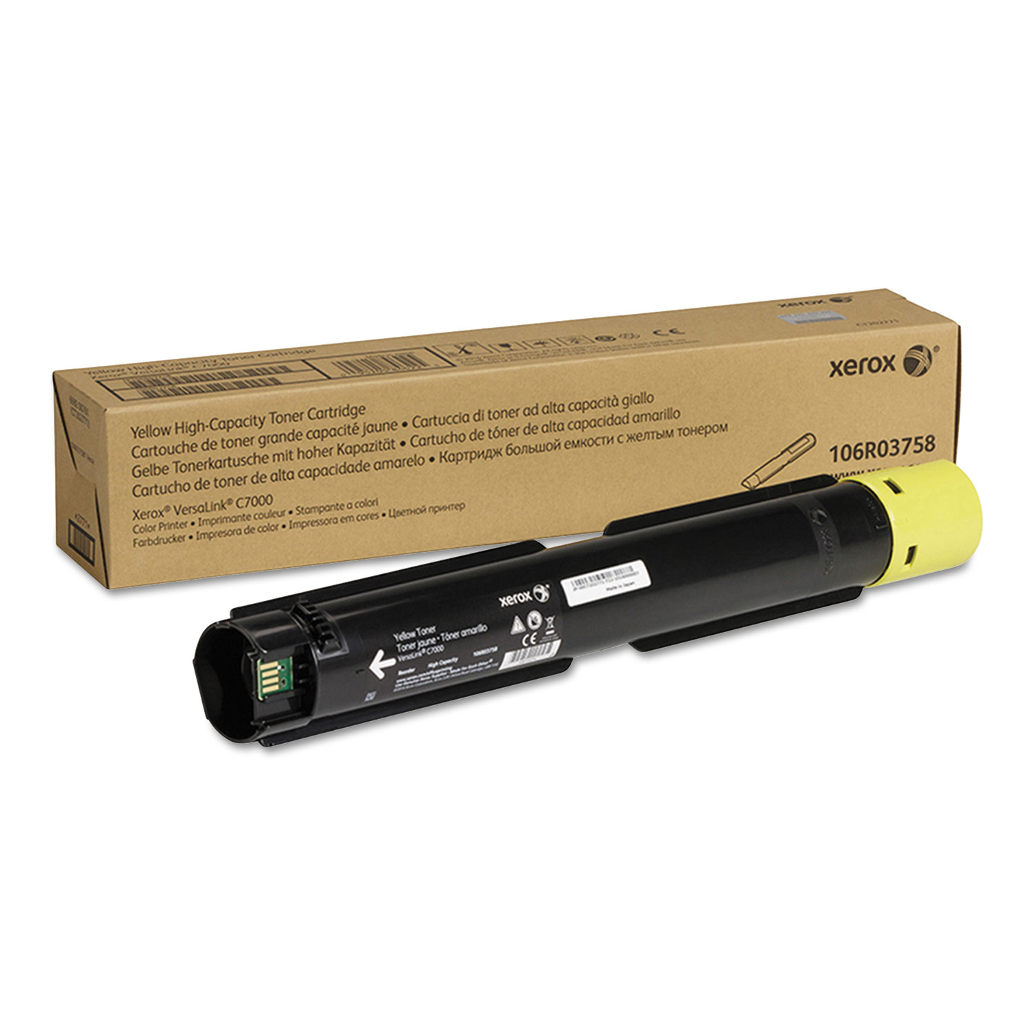 106R03758 High-Yield Toner, 10100 Page-Yield, Yellow