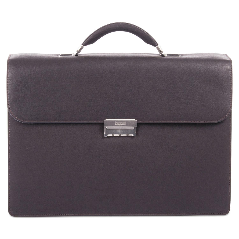"Sartoria Medium Briefcase, 16.5"" x 5"" x 12"", Leather, Brown"