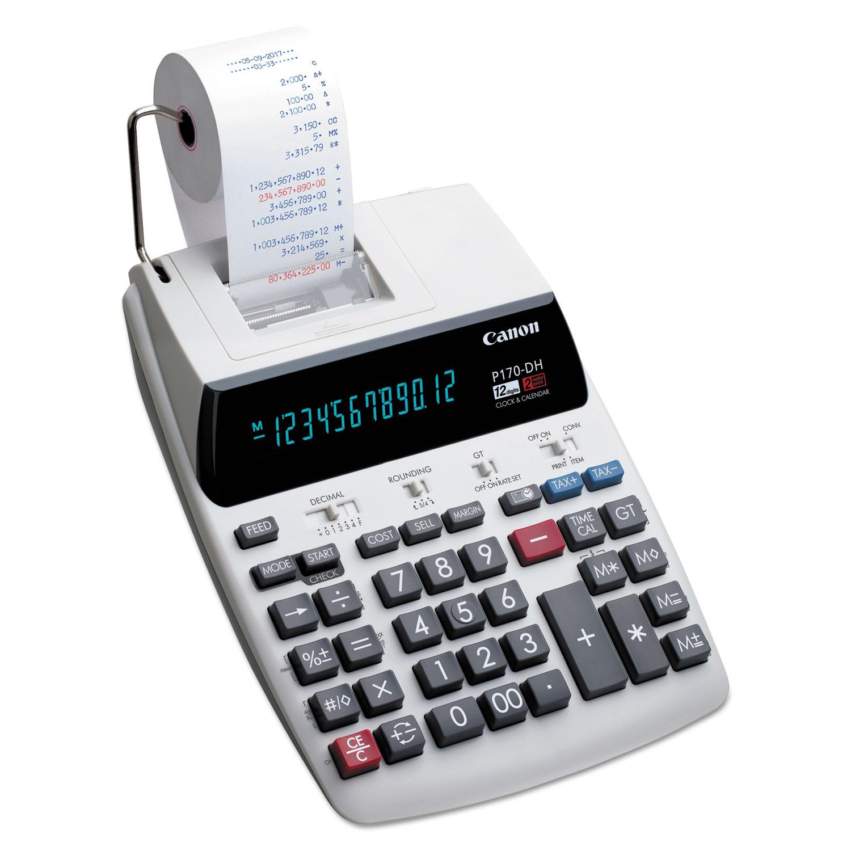 P170-DH-3 Printing Calculator, Black/Red Print, 2.3 Lines/Sec
