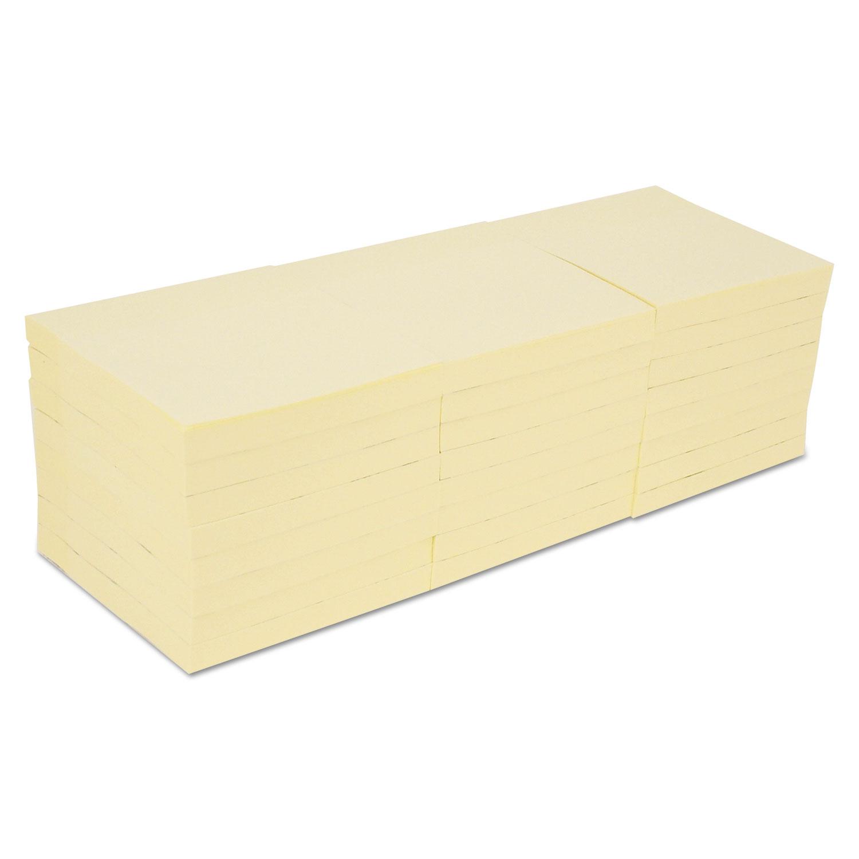 Self-Stick Note Pads, 3 x 3, Yellow, 90-Sheet, 24/Pack