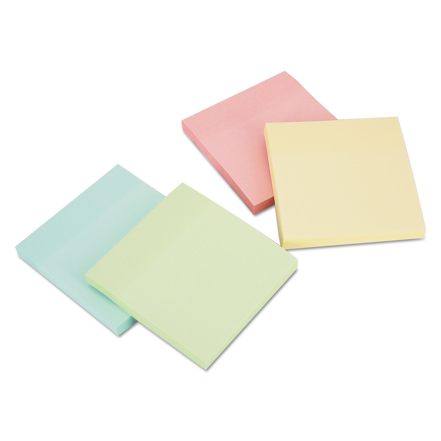 Self-Stick Note Pads, 3 x 3, Pastel, 90-Sheet, 18 Pads/Pack