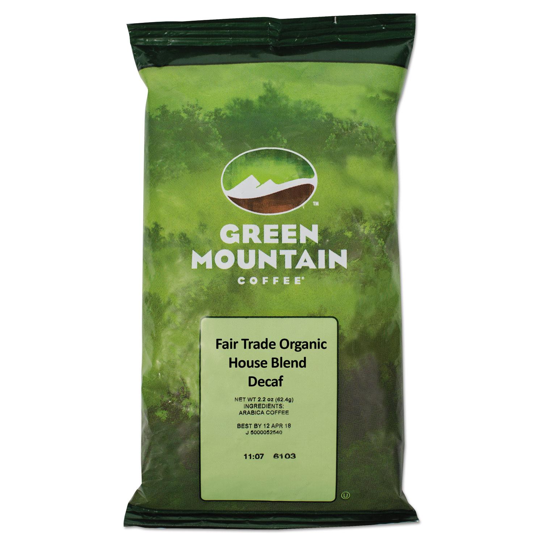 GMT5493 Green Mountain Coffee Fair Trade Organic House..