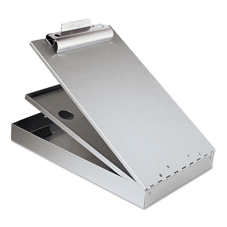 "Cruiser Mate Aluminum Storage Clipboard, 1.5"" Clip Cap, 8.5 x 12 Sheets, Silver"