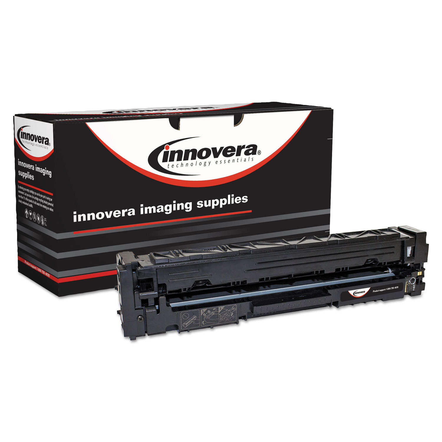 Remanufactured CF400A (201A) Toner, 1500 Page-Yield, Black