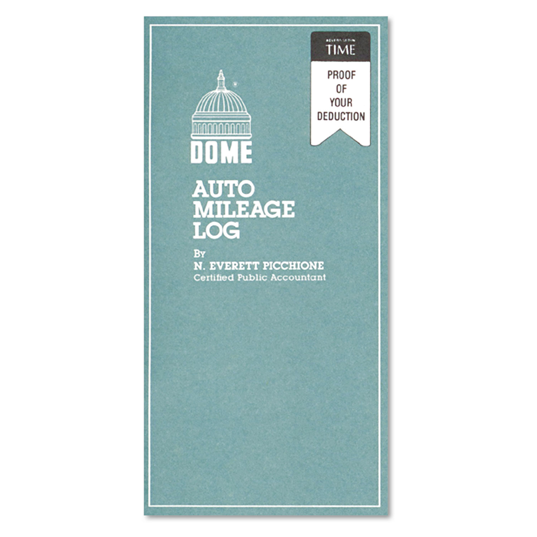 Auto Mileage Log, Undated, 3 1/4 x 6 1/4, 32 Forms