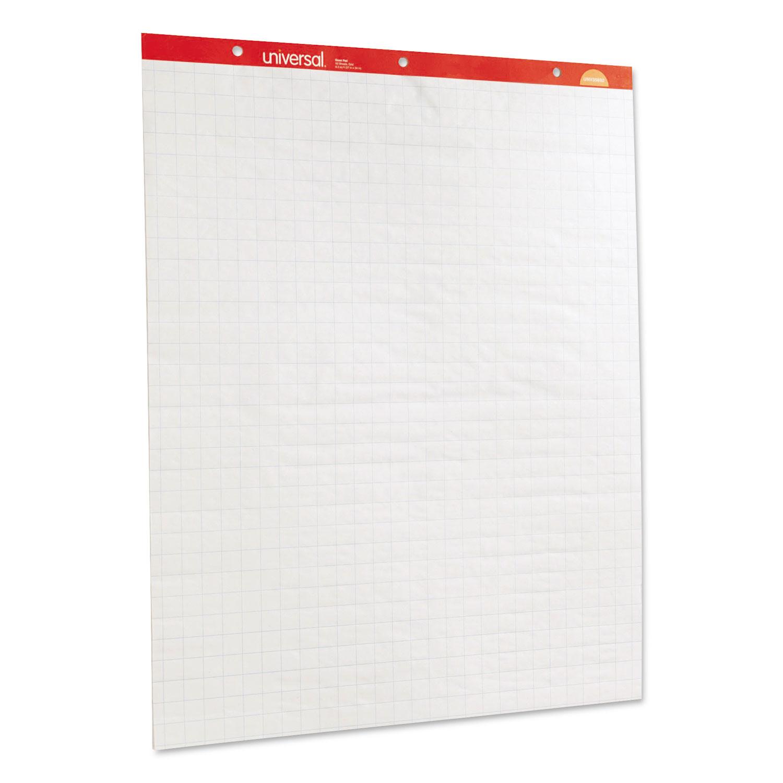 Renewable Resource Sugarcane Based Easel Pads, 27 x 34, White, 50 Sheets, 2/Carton UNV45601