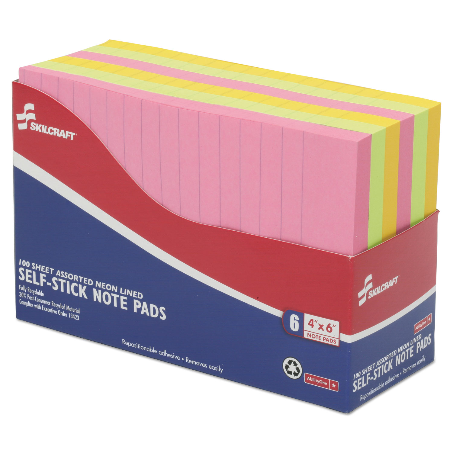Self-Stick Note Pads by AbilityOne® NSN4181212 | OnTimeSupplies.com