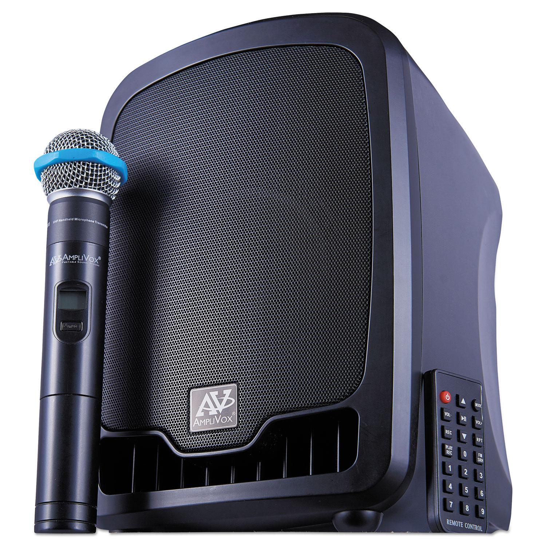 Bluetooth Wireless Portable Media Player PA System, 36W, Black