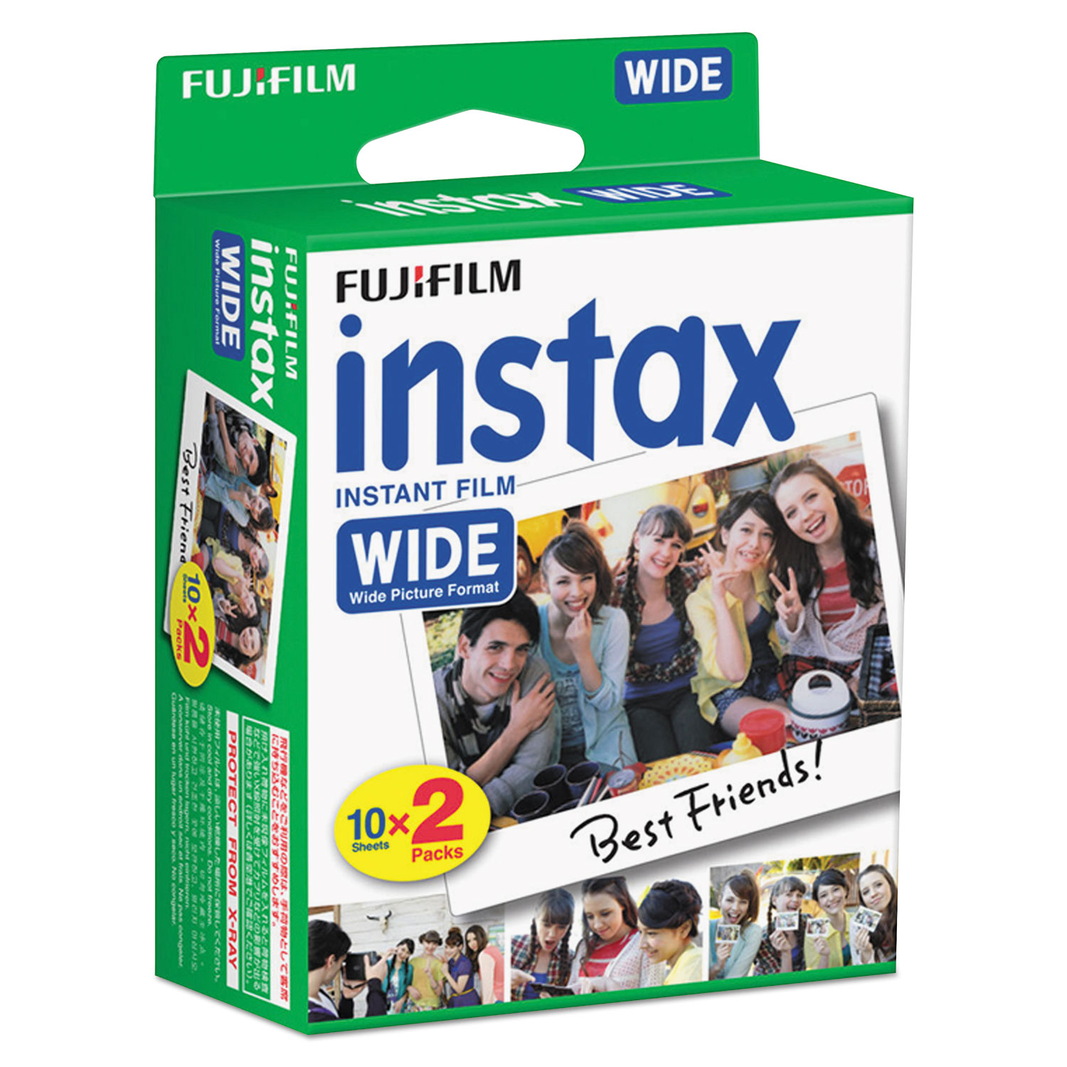 Instax Wide Film Twin Pack, 800 ASA, 20-Exposure Roll