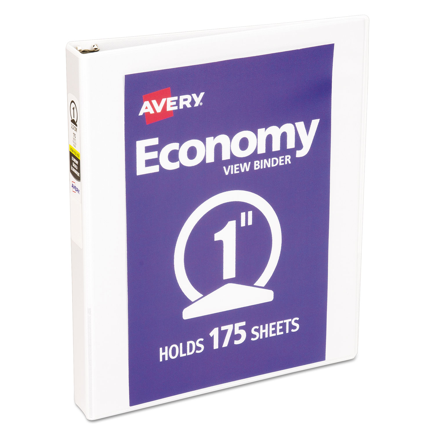 economy view binder w round rings by avery ave05711
