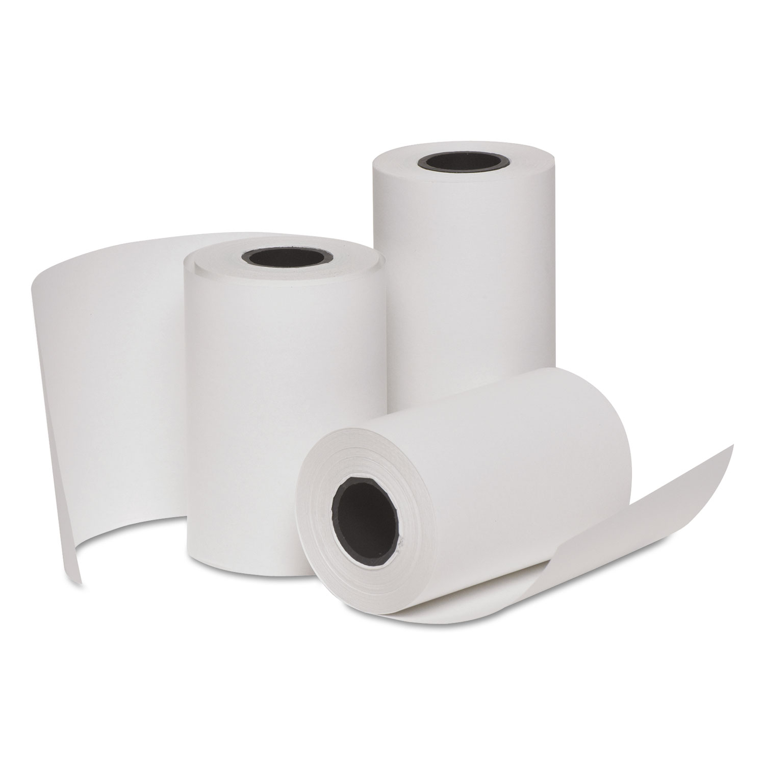 Deluxe Direct Thermal Printing Paper Rolls, 3 x 85 ft, 10 Rolls/PK