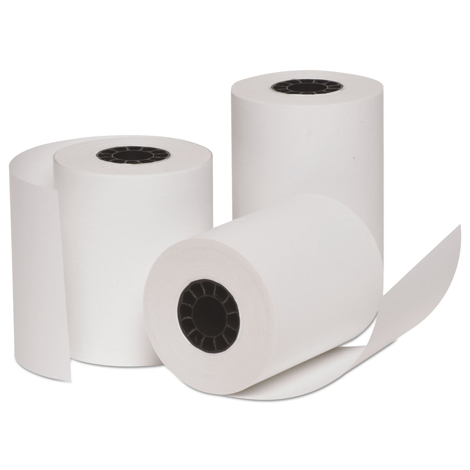 Deluxe Direct Thermal Printing Paper Rolls, 3 x 128 ft, 10 Rolls/PK
