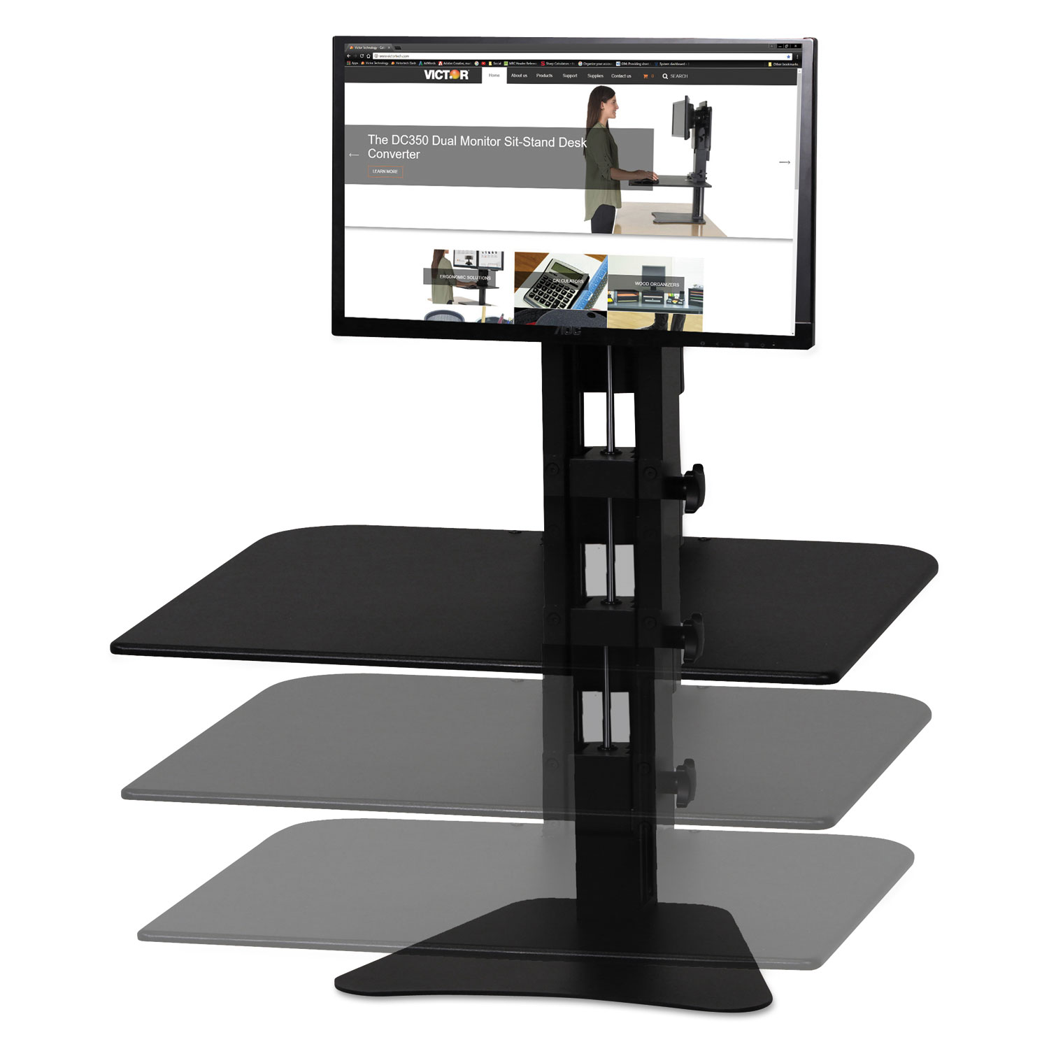 High Rise Standing Desk Workstation By Victor 174 Vctdc300