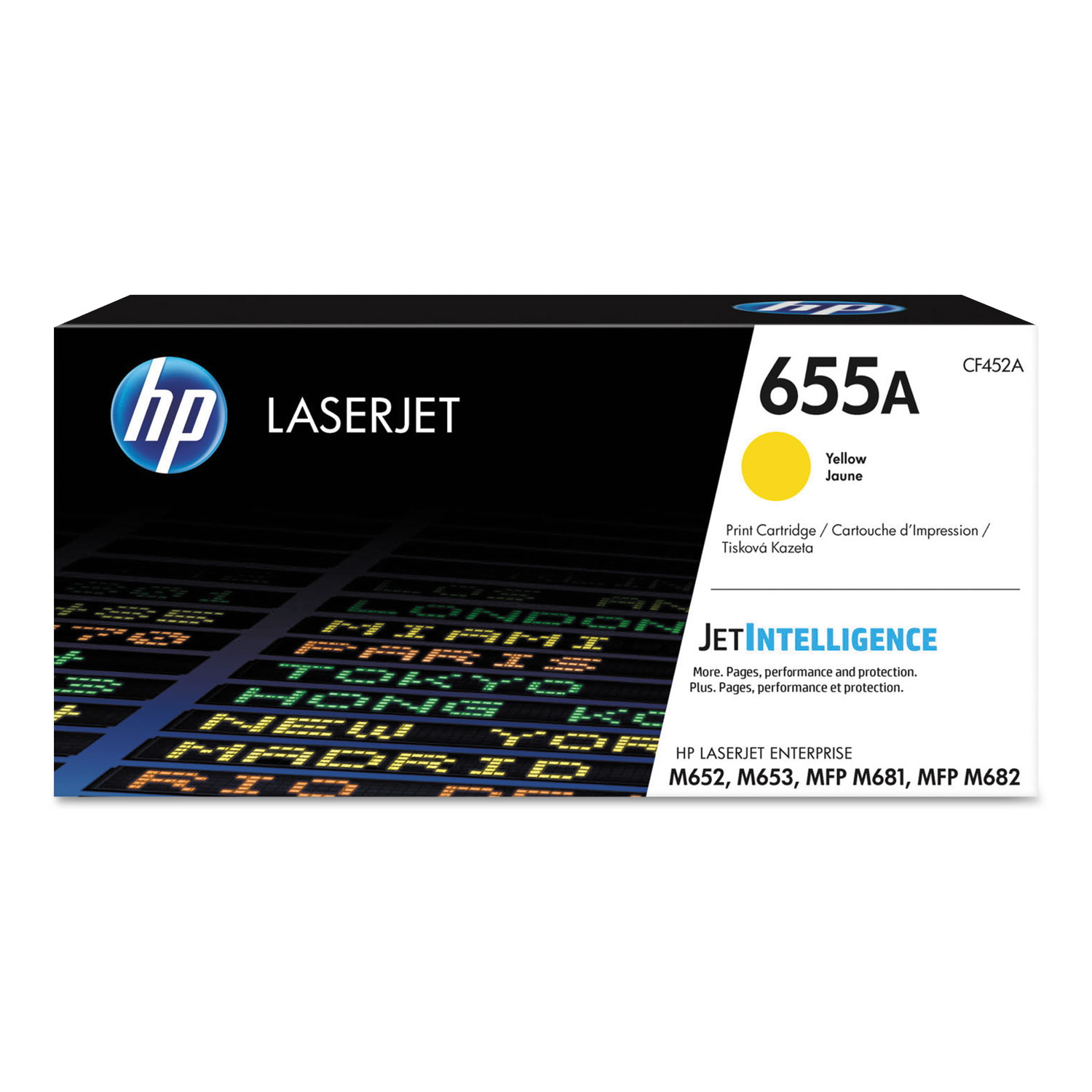 HP 655A, CF452A Yellow Original LaserJet Toner Cartridge