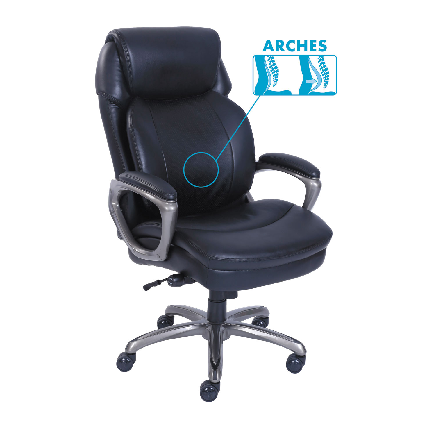 Charmant Cosset High Back Executive Chair, Black