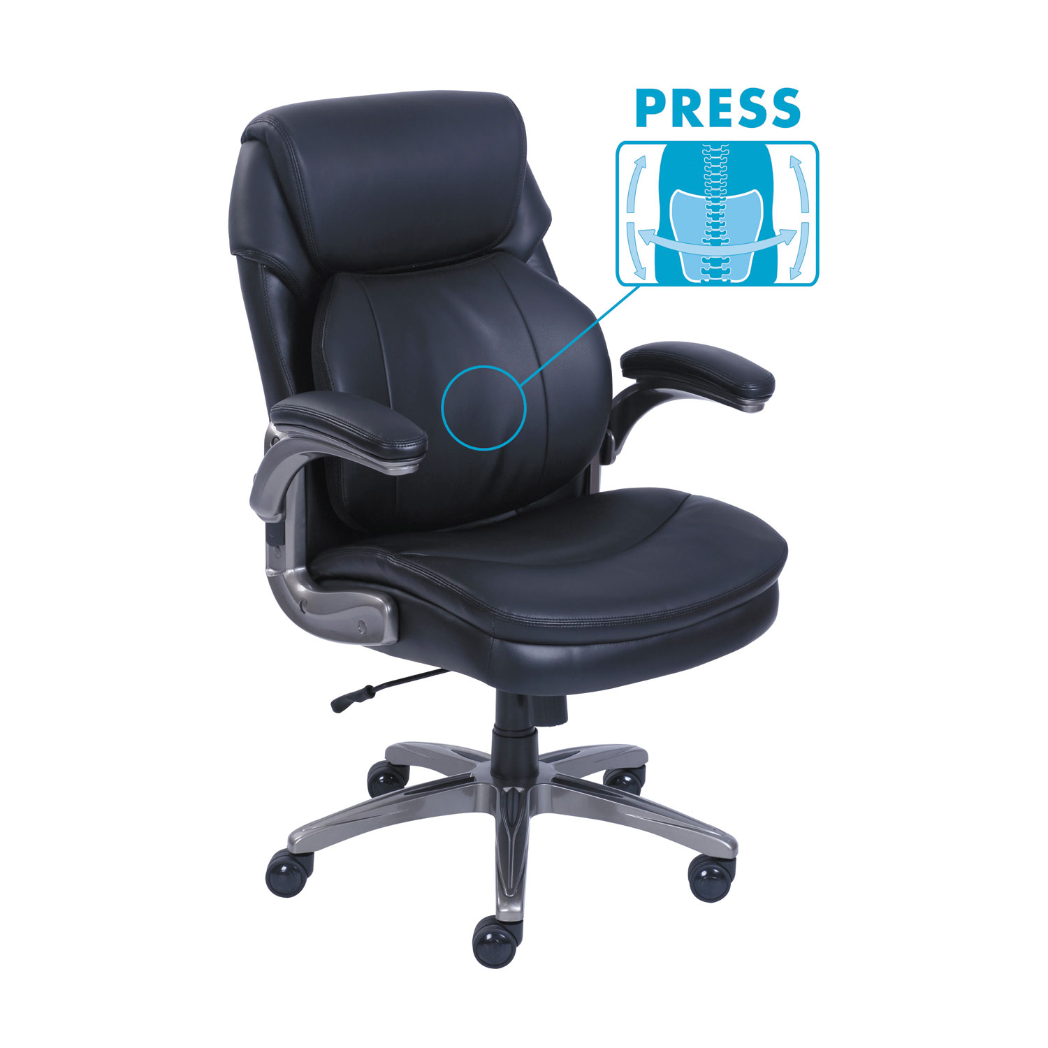 Cosset Mid Back Executive Chair Black Srj48966 Thumbnail 1 2 3
