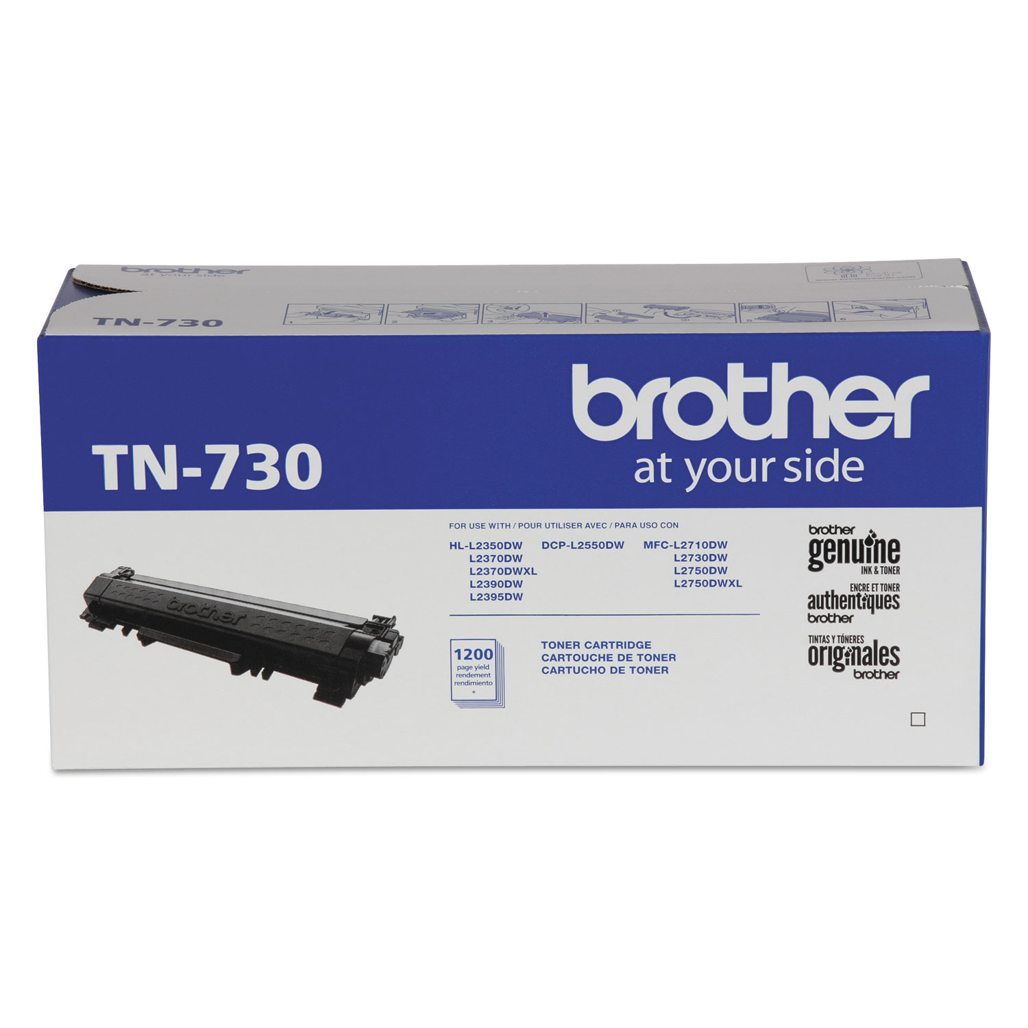 TN730 Toner, 1200 Page-Yield, Black
