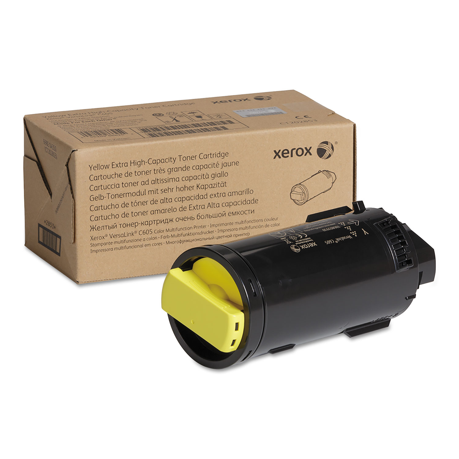 106R04012 Extra High-Yield Toner, 16800 Page-Yield, Yellow, TAA Compliant