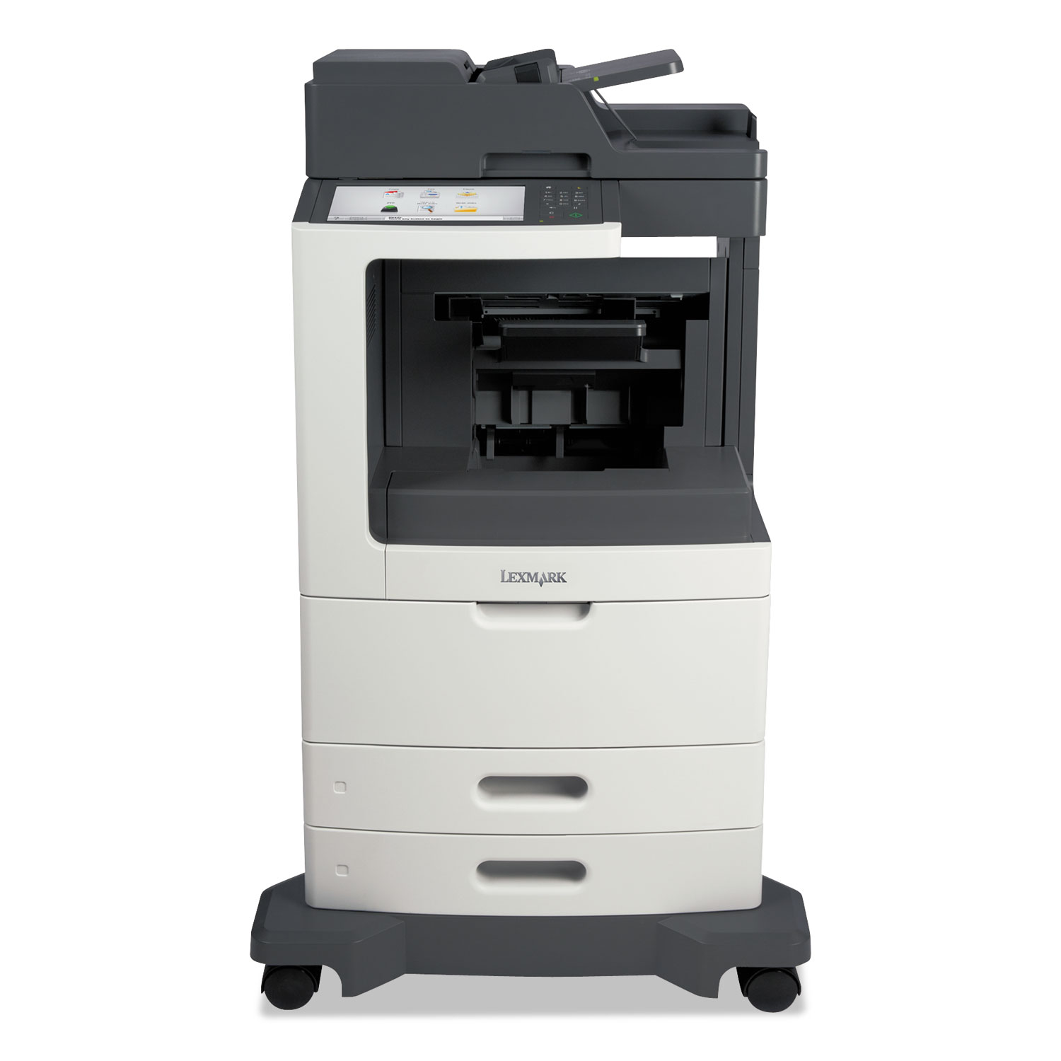 MX812dfe Multifunction Laser Printer, Copy/Fax/Print/Scan