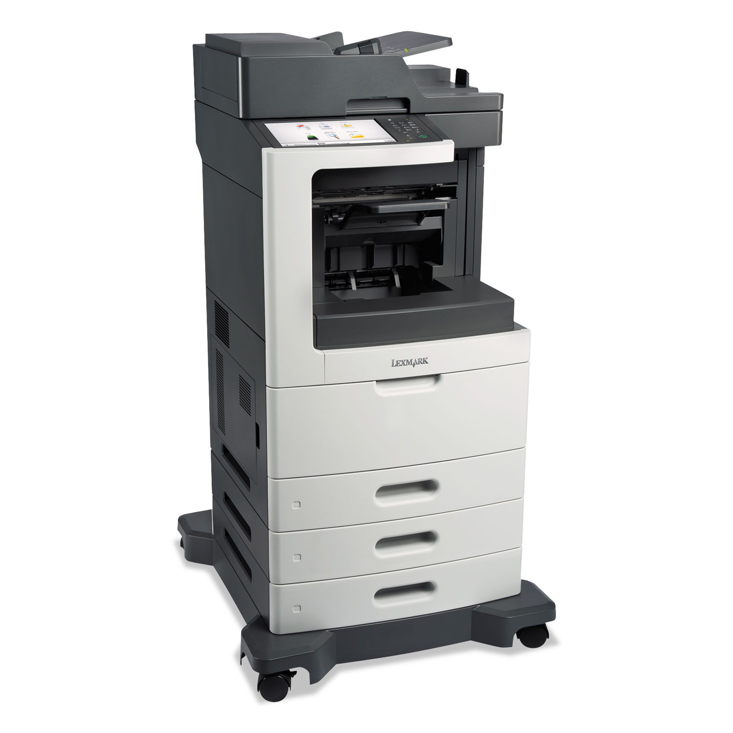 MX812dte Multifunction Laser Printer, Copy/Fax/Print/Scan