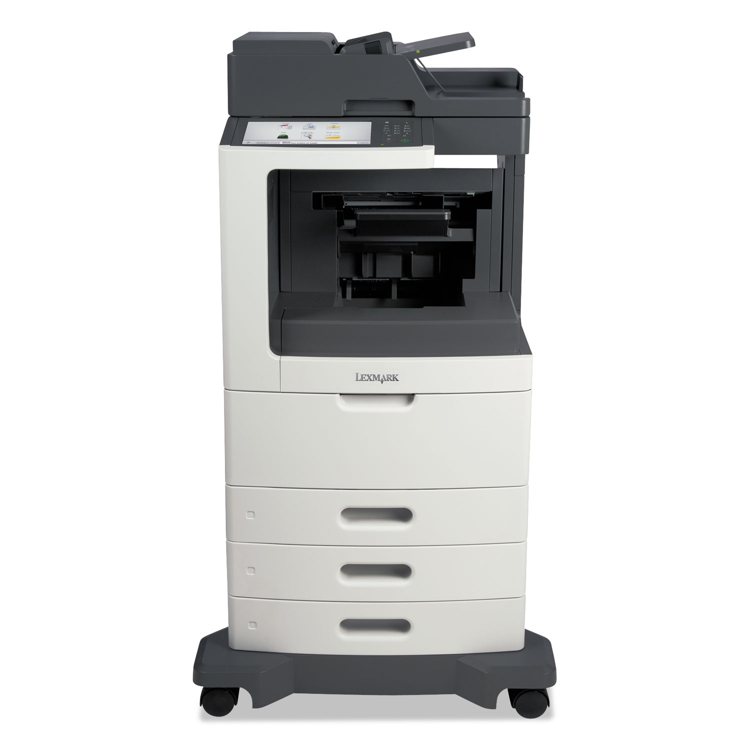 MX812dtfe Multifunction Laser Printer, Copy/Fax/Print/Scan