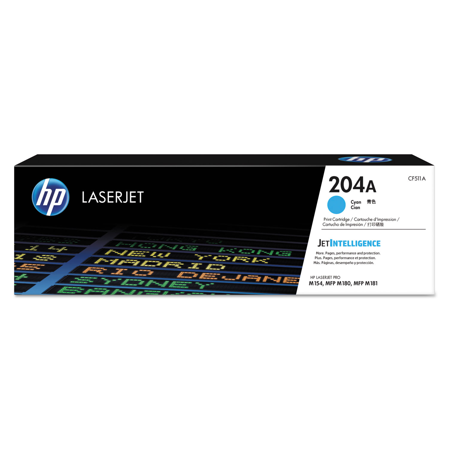 HP 204A, CF511A Cyan Original LaserJet Toner Cartridge