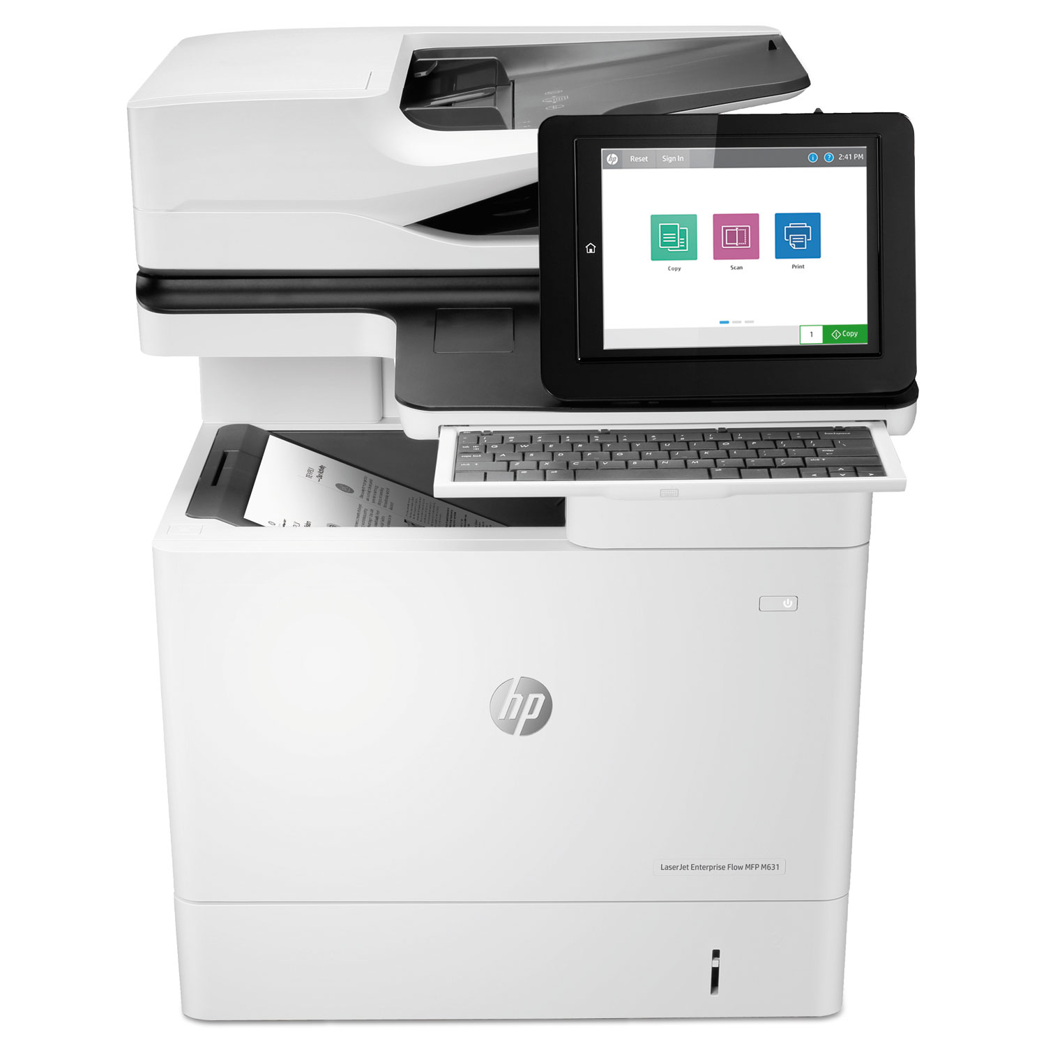LaserJet Enterprise Flow MFP M631h, Copy/Print/Scan