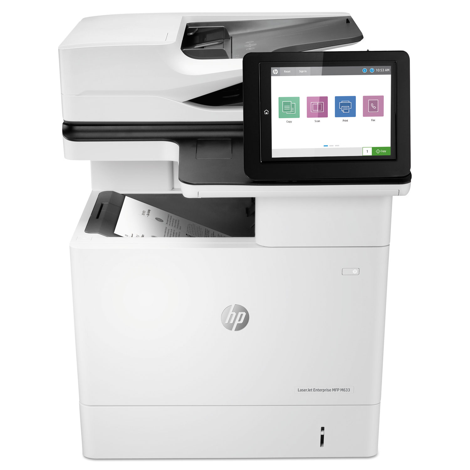 LaserJet Enterprise MFP M633fh, Copy/Fax/Print/Scan
