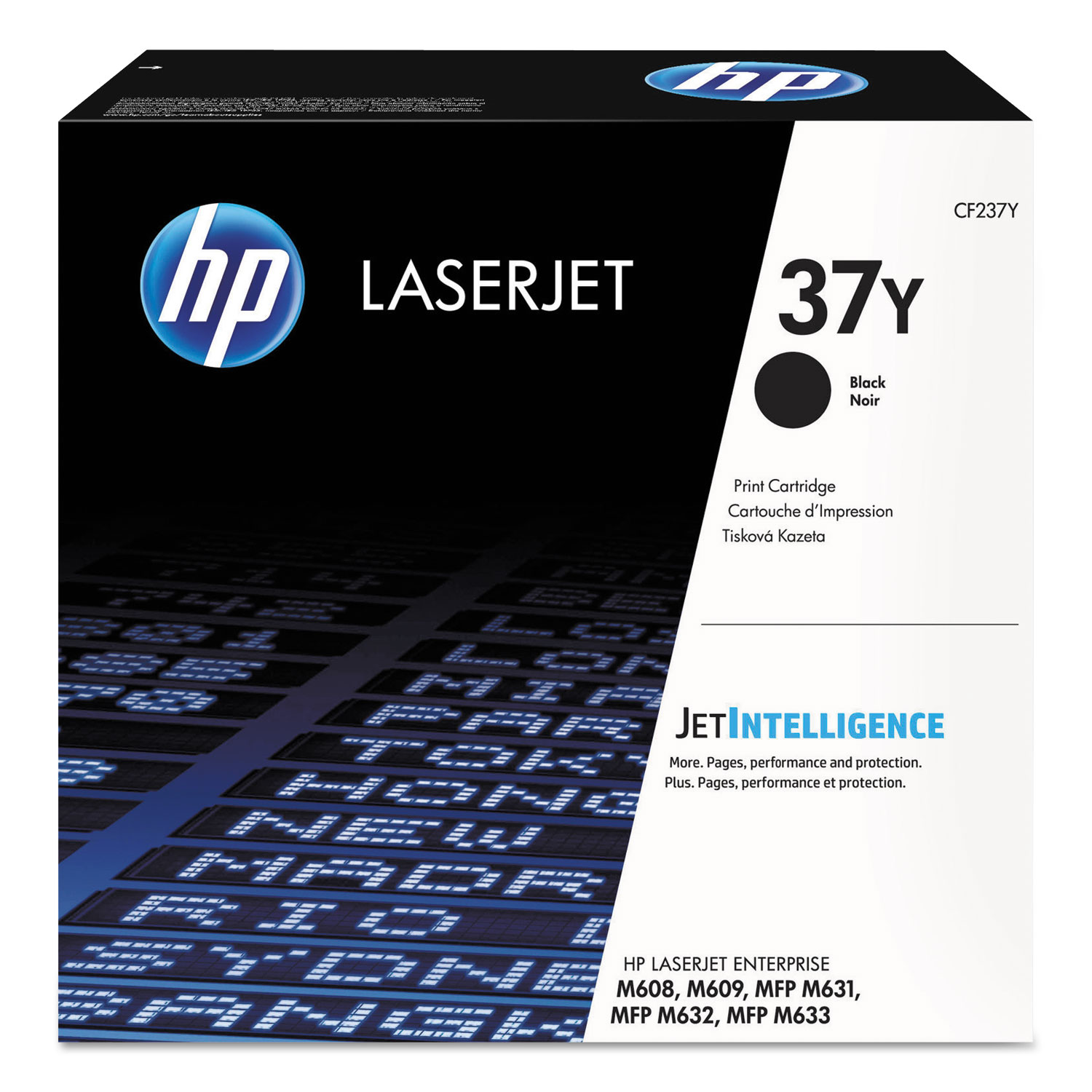 HP 37Y CF237Y High Yield Black Original Toner, 41000 Page-Yield