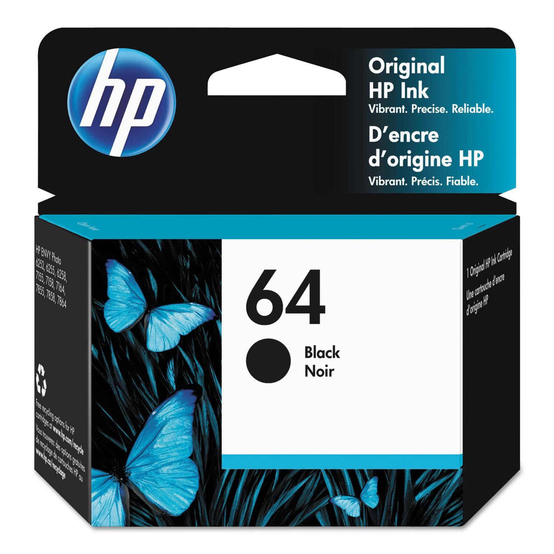 HP 64, (N9J90AN) Black Original Ink Cartridge