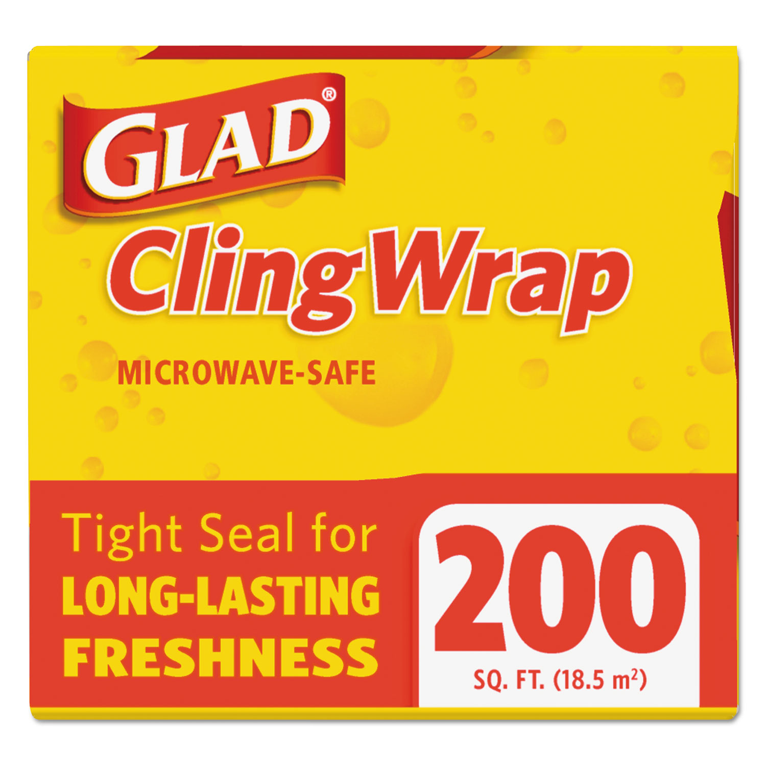 ClingWrap Plastic Wrap, 200 Square Foot Roll, Clear