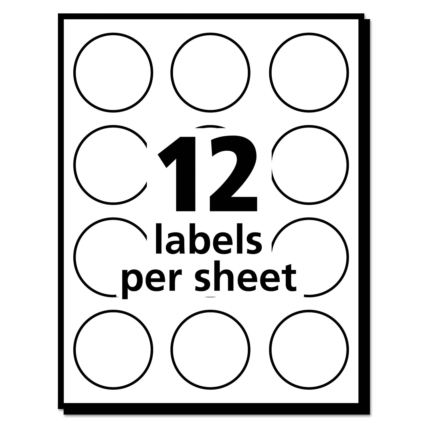Round print to the edge labels 2 dia glossy clear 120pack round print to the edge labels 2 dia glossy clear 120pack maxwellsz