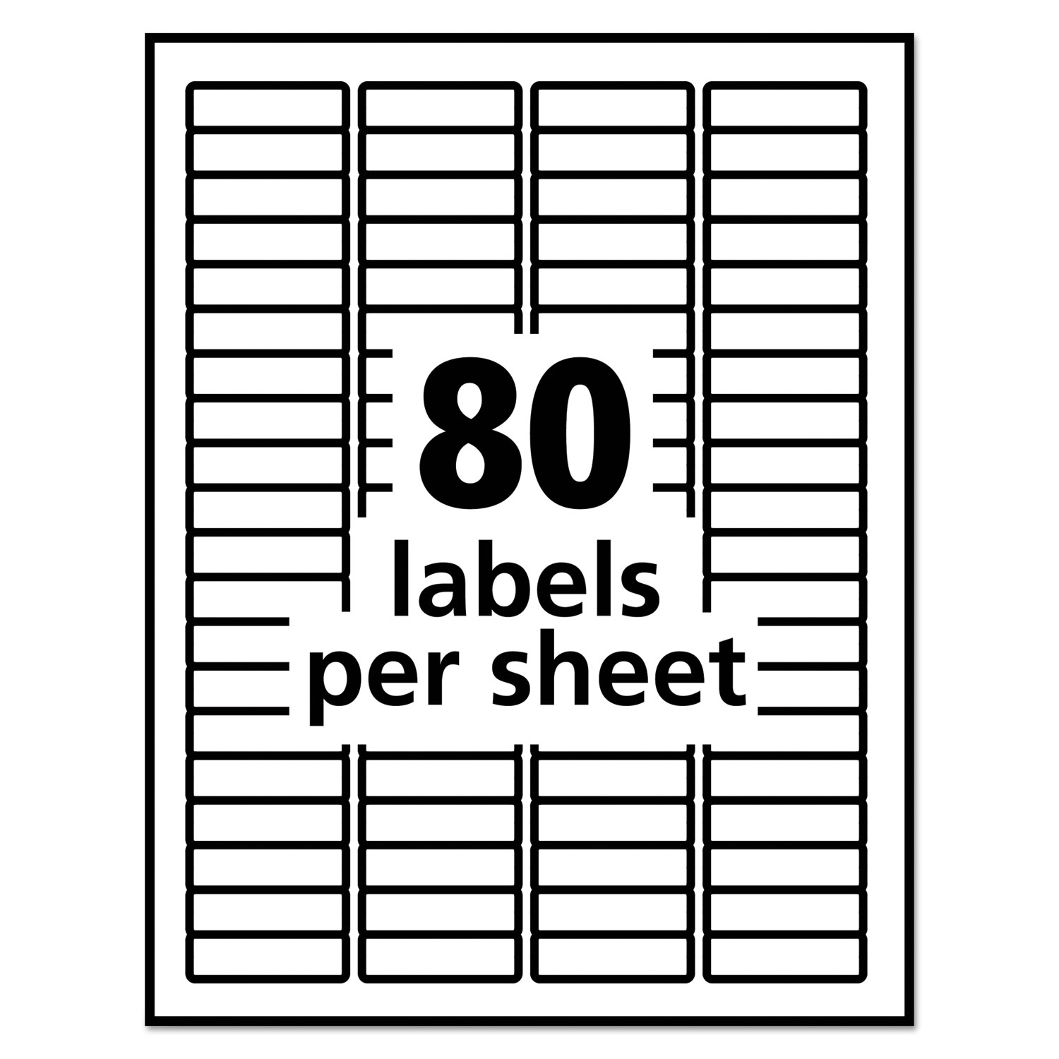 avery 6467 self adhesive white removable laser id labels 1 2 x 1 3