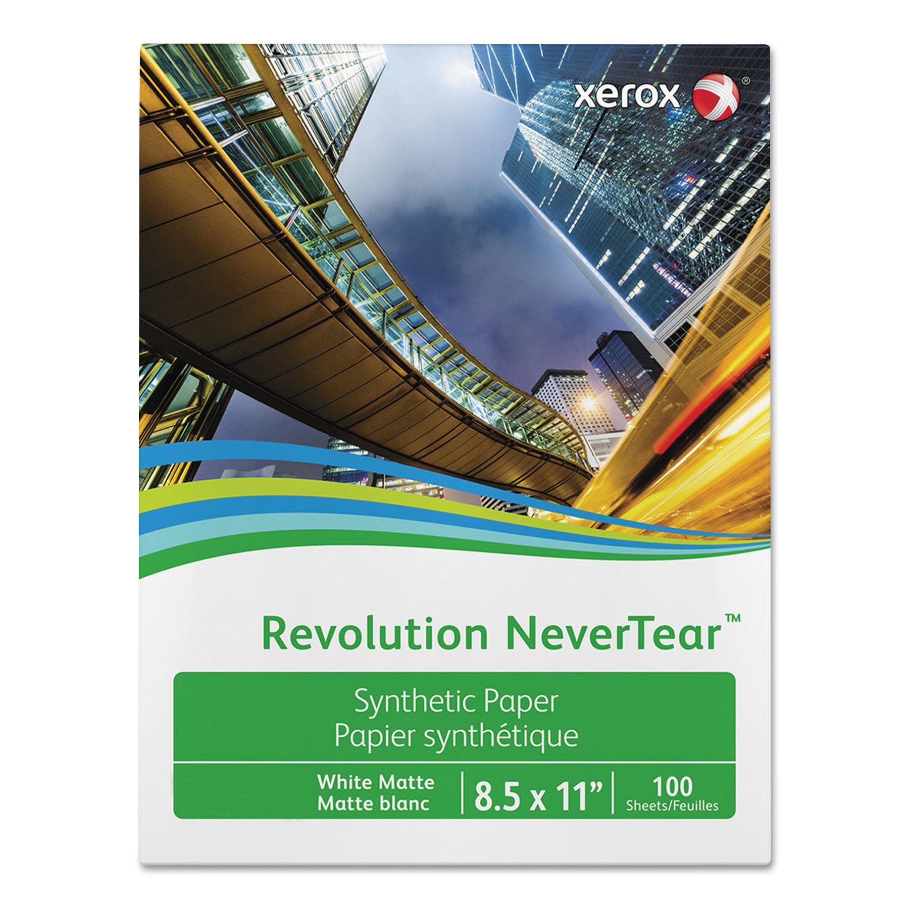 Revolution NeverTear, 98 Bright, 10 mil, 8.5 x 11, White, 500 Sheets/Carton