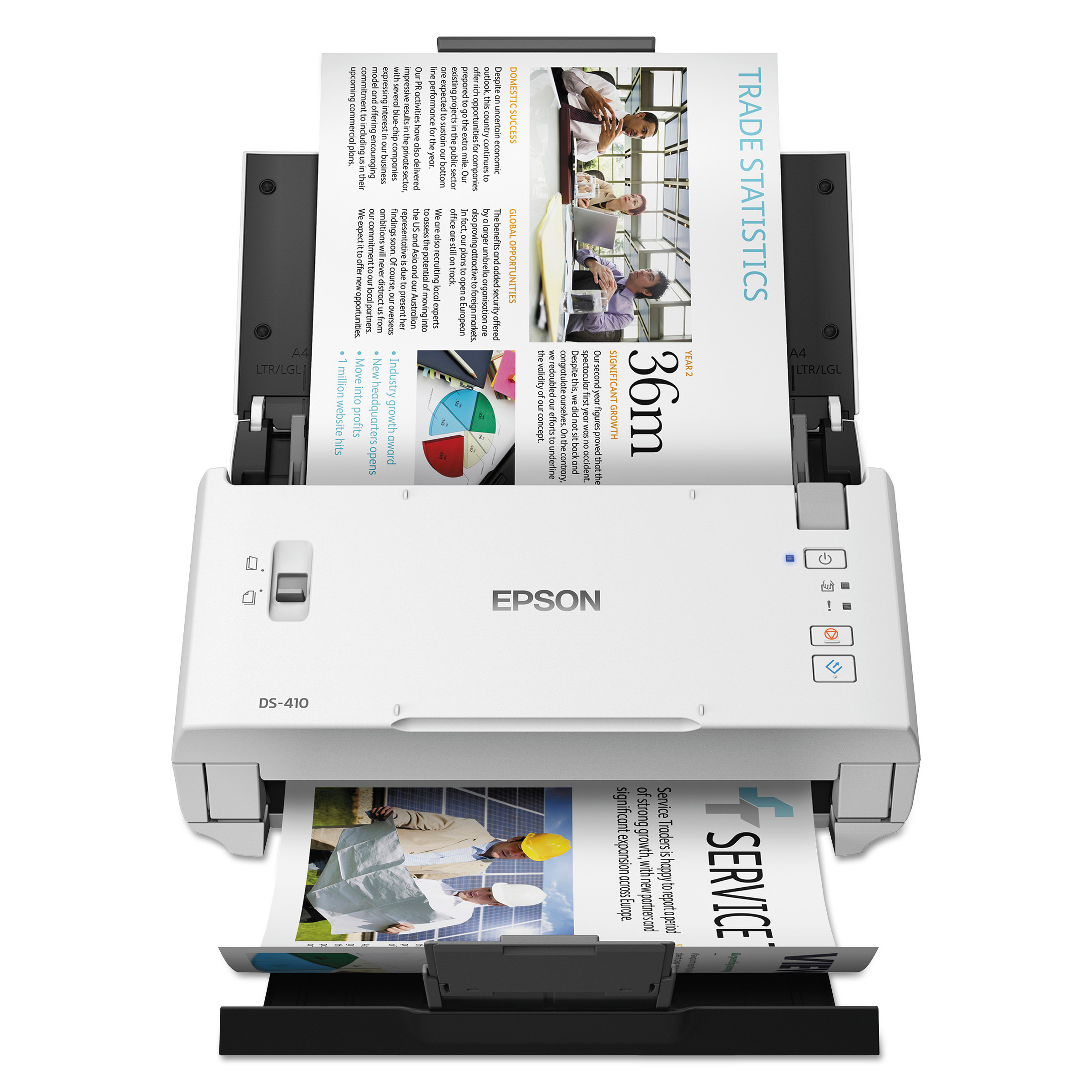 DS-410 Document Scanner, 600 dpi Optical Resolution, 50-Sheet Duplex Auto  Document Feeder