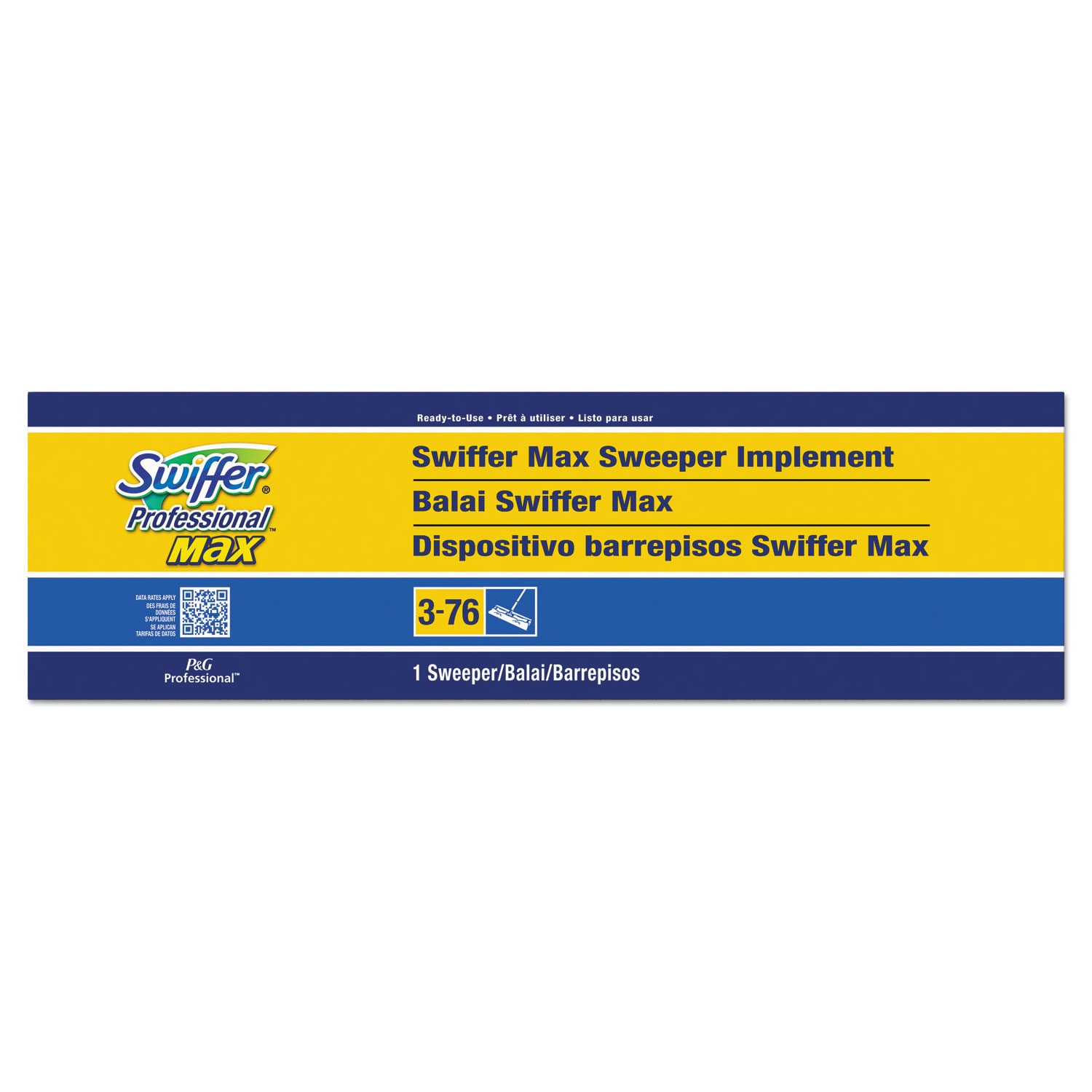 Sweeper Mop, Professional Max Sweeper, 17 Wide Mop
