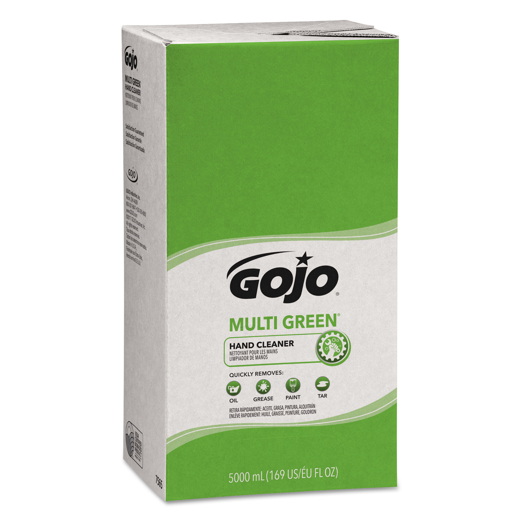 MULTI GREEN Hand Cleaner Refill, 5000mL, Citrus Scent, Green, 2/Carton
