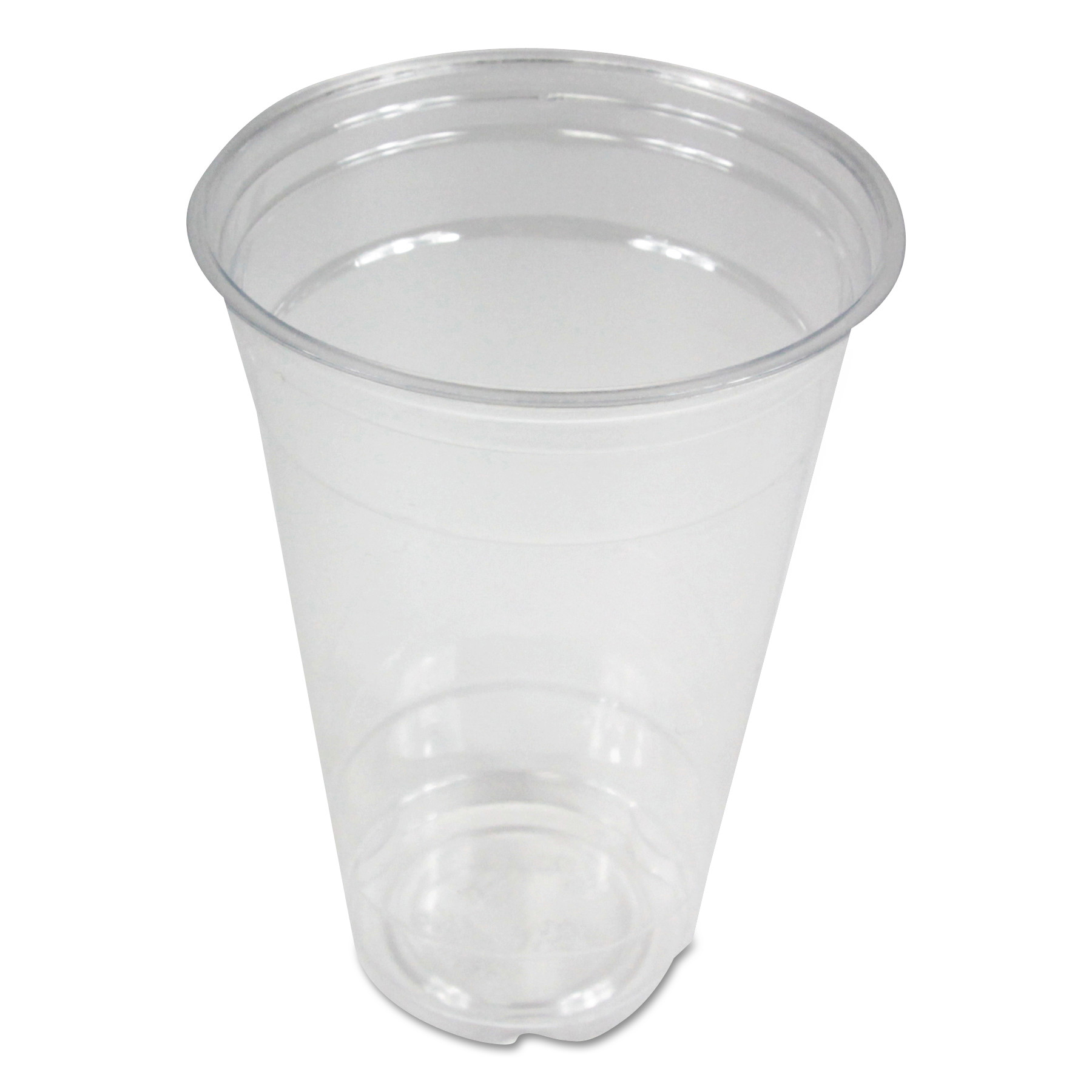 Clear Plastic Cold Cups, 20 oz, PET, 20 Cups/Sleeve, 50 Sleeves/Carton