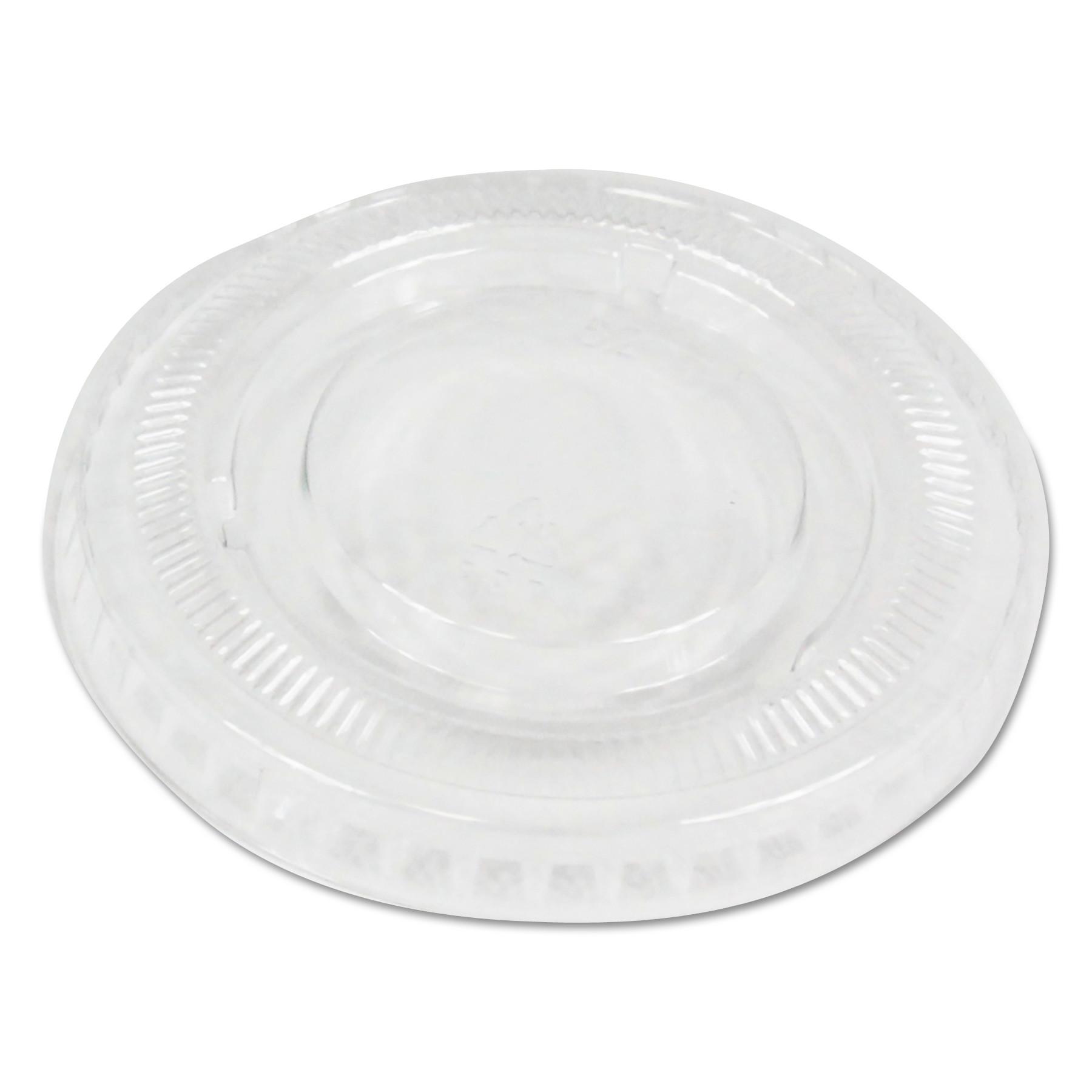 Soufflé/Portion Cup Lids, Fits 1 oz Portion Cups, Clear, 2500/Carton