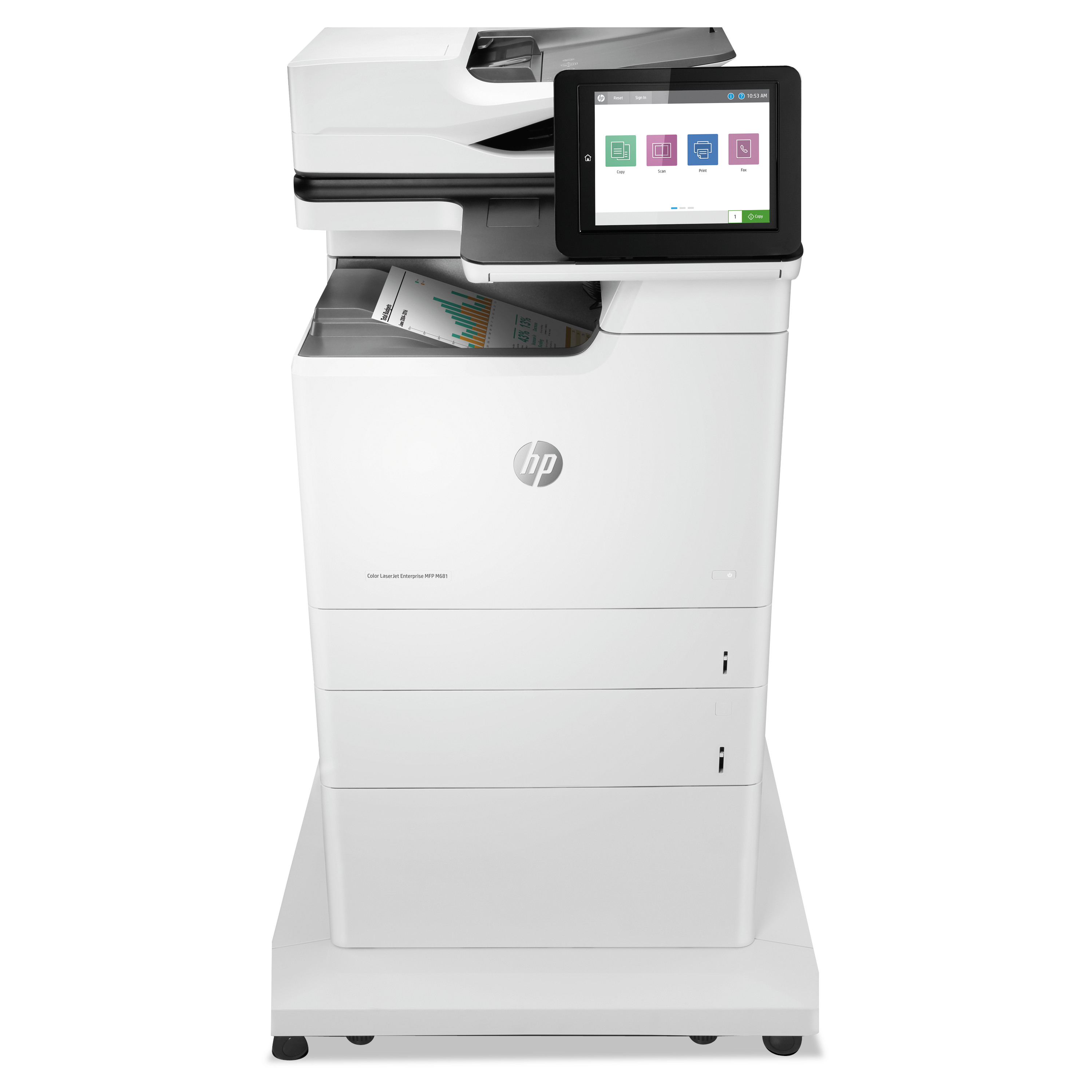 Color LaserJet Enterprise MFP M681f, Copy/Fax/Print/Scan