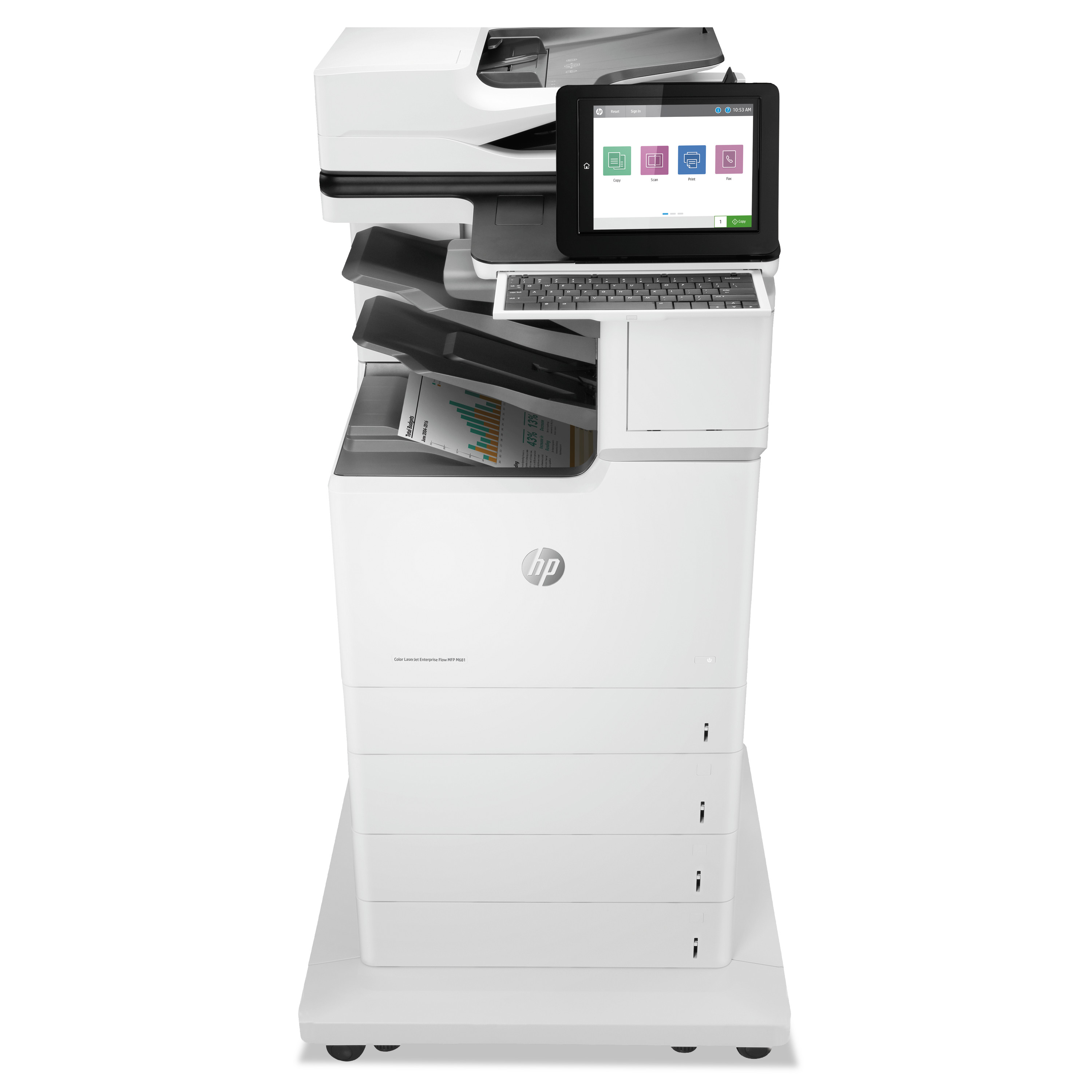 Color LaserJet Enterprise Flow MFP M681z, Copy/Fax/Print/Scan