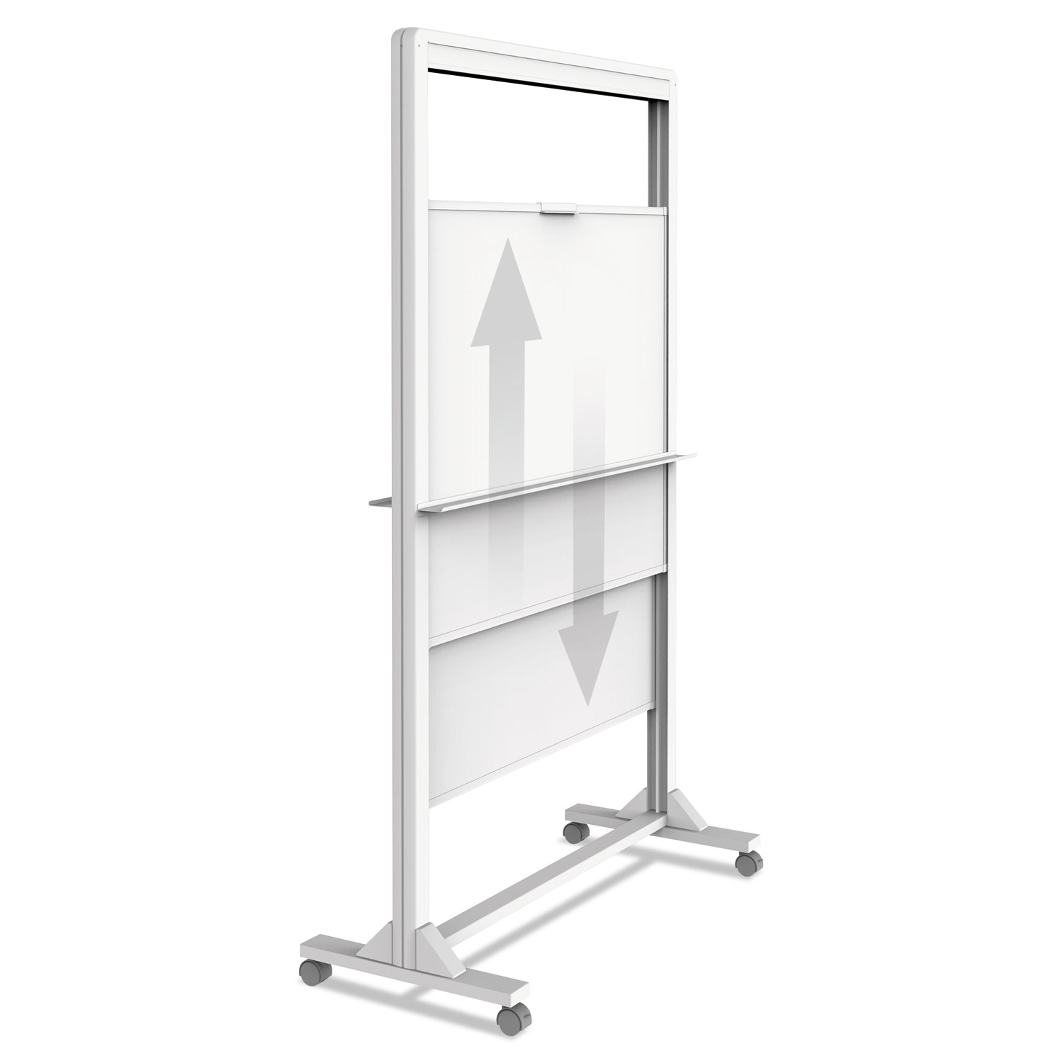 Motion Dual-Track Mobile Magnetic Dry-Erase Easel, 40.5