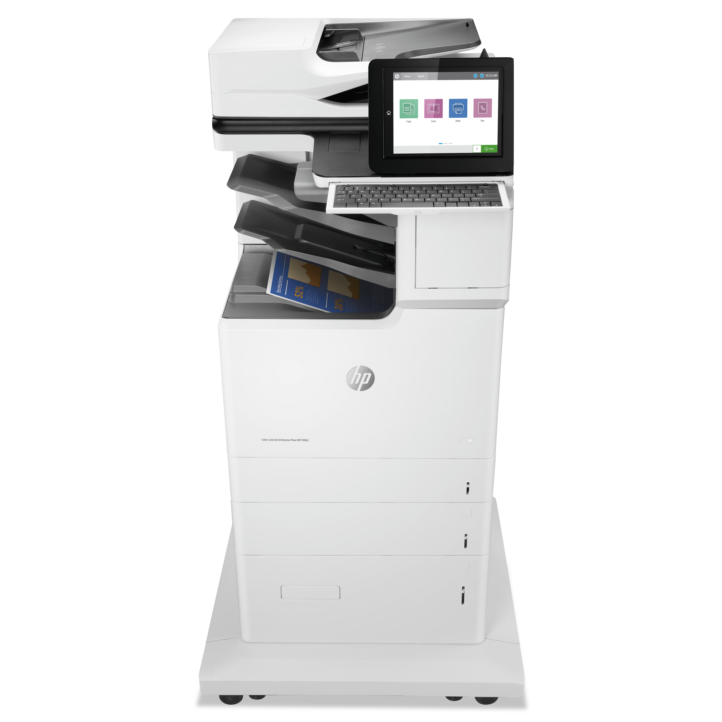 Color LaserJet Enterprise Flow MFP M682z, Copy/Fax/Print/Scan