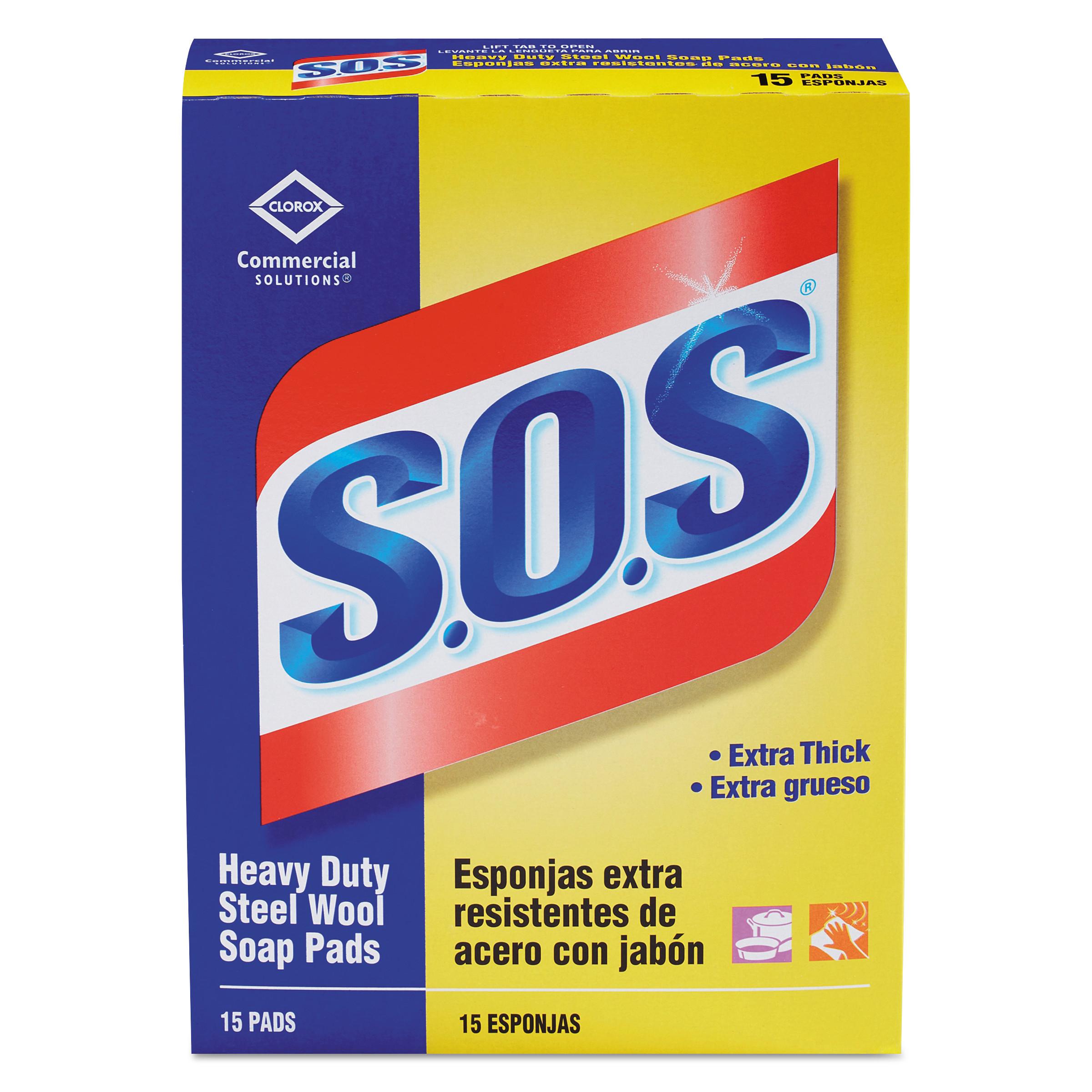 Steel Wool Soap Pad, 15 Pads/Box